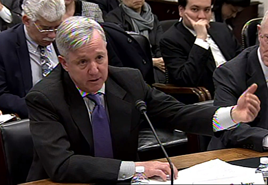 IFES President and CEO Anthony Banbury testifies before the House Appropriations Subcommittee on State and Foreign Operations.