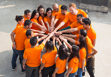 IFES Nepal wears orange for the #16Days Campaign.