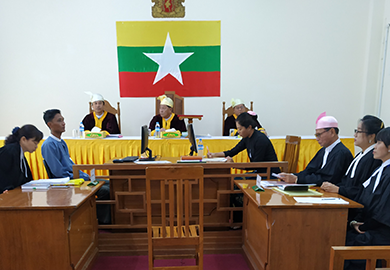 Myanmar's Election Tribunal holds a hearing about a post-election petition relating to the 2018 by-elections.