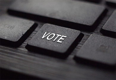 """Keyboard with a """"vote"""" key"""