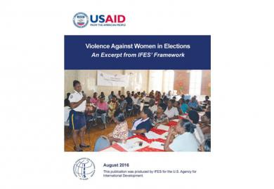 Violence Against Women in Elections: An Excerpt from IFES' Framework Featured Image