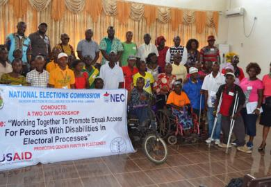 IFES Trains NEC Gender Section in Liberia on Disability Rights