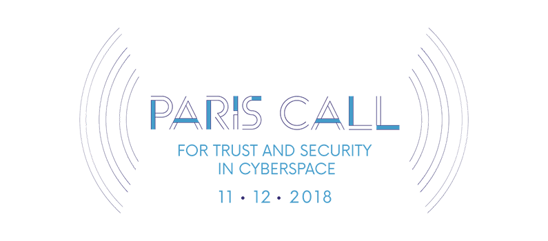 Logo: Paris Call for Trust and Security in Cyberspace 11-12-2018