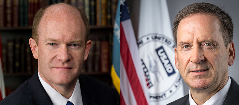 Senator Christopher Coons and Administrator Mark Green