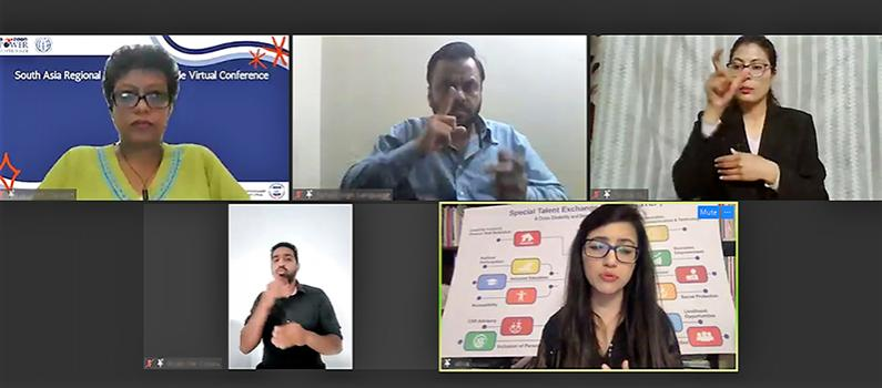 Screenshot from IFES' South Asia Regional Power to Persuade Virtual Conference held on March 3, 2021.
