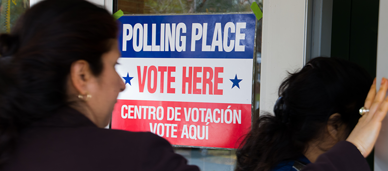 Polling station during 2014 general elections