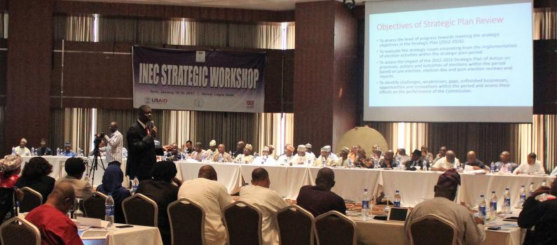 IFES Assists Nigeria's Election Commission to Begin Developing New Strategic Plan  Featured Image