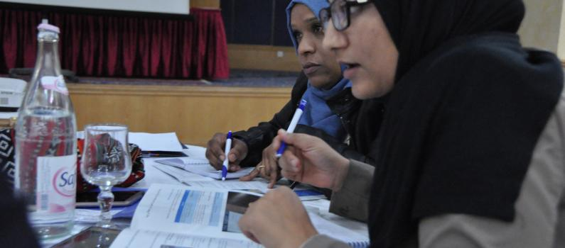 Journalists discuss disability-inclusive reporting at the Disability Rights, Media, and Elections BRIDGE training on April 18-20, 2017.