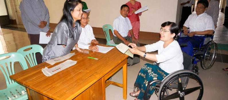 Persons with Disabilities in Myanmar: Securing Political Participation and Electoral Rights Featured Image