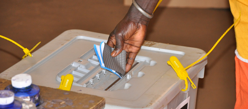 A voter casts a ballot during Southern Sudan's 2011 referendum to determine whether it would secede from the north.