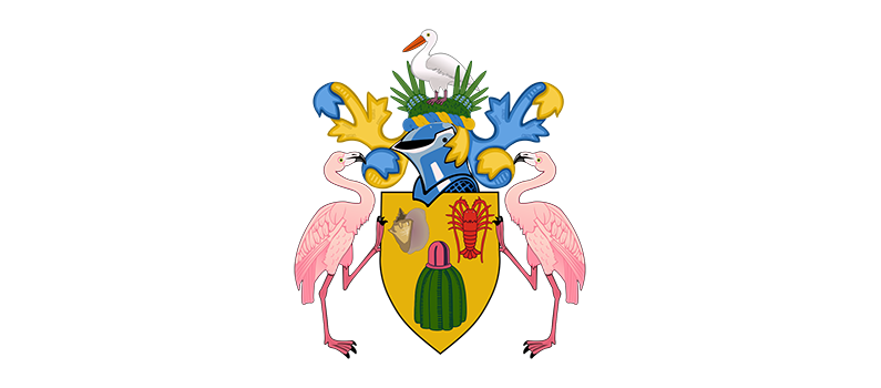 Turks and Caicos Islands coat of arms | Josedar, CC BY-SA 4.0 <https://creativecommons.org/licenses/by-sa/4.0>, via Wikimedia Commons