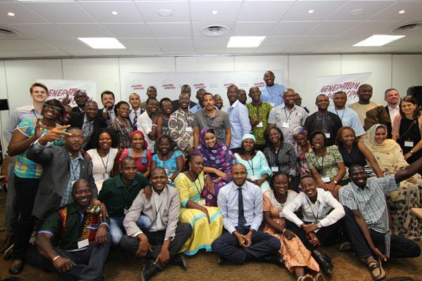 Generation Democracy participants at the 2015 Dakar Launch Conference.