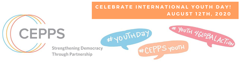 CEPPS logo | Celebrate International Youth Day! August 12th, 2020 | #YouthDay #CEPPSYouth #Youth4GlobalAction
