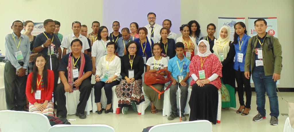 "Participants in the ""Upholding the Rights of Persons with Disabilities to Participate in Public Life"" workshop on August 4, 2016 in Dili, Timor-Leste."