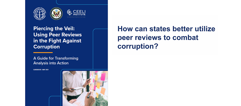 How can states better utilize peer reviews to combat corruption?