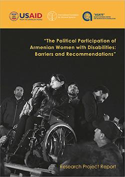 The cover of the new publication on participation of women with disabilities in political life by the Agate Rights Defense Center for Women with Disabilities