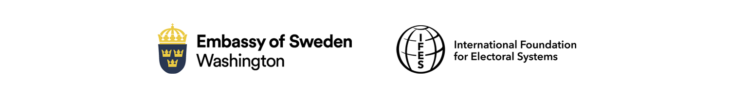 Embassy of Sweden and IFES logos