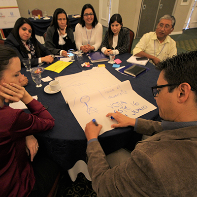 Participants develop inclusive civic campaigns to reach out to citizens in rural areas.