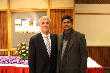 Bill Sweeney with Yadav Nepal Reception