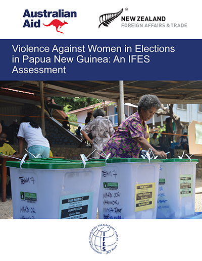 "Cover of ""Violence Against Women in Elections in Papua New Guinea: An IFES Assessment"""